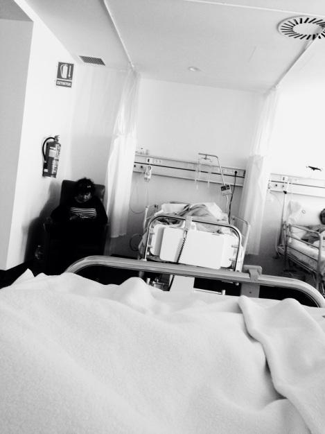 Foto tomada desde mi cama del hospital