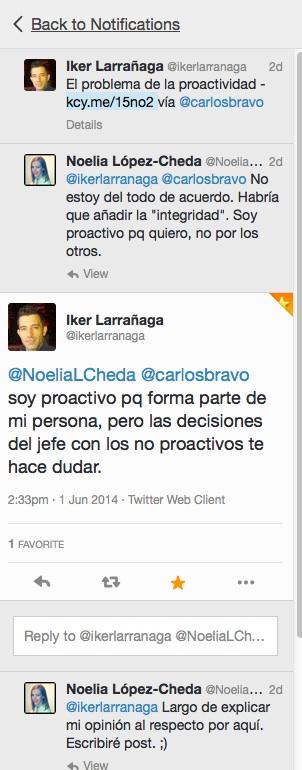 debate proactividad Twitter
