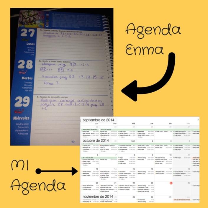 Mi agenda y la de Enma
