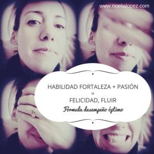 HABILIDAD FORTALEZA + PASIÓN =FELICIDAD,